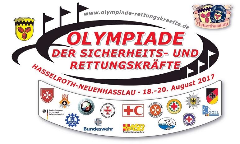 6. Olympiade der Sicherheits- und Rettungskräfte vom 18.08. - 20.08.2017 in  63594 Hasselroth-Neuenhaßlau / Main-Kinzig-Kreis / Hessen / Deutschland